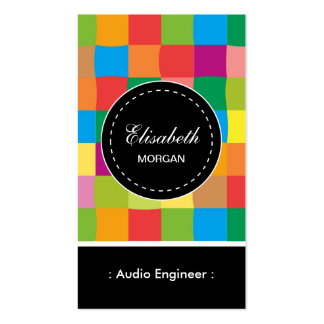 Audio Engineer- Colorful Sqaure Pattern Pack Of Standard Business Cards