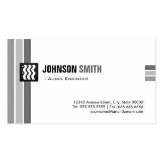 Audio Engineer - Creative Black White Pack Of Standard Business Cards