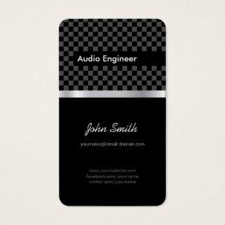 Audio Engineer - Elegant Black Silver Squares