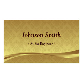Audio Engineer - Elegant Gold Damask Pack Of Standard Business Cards