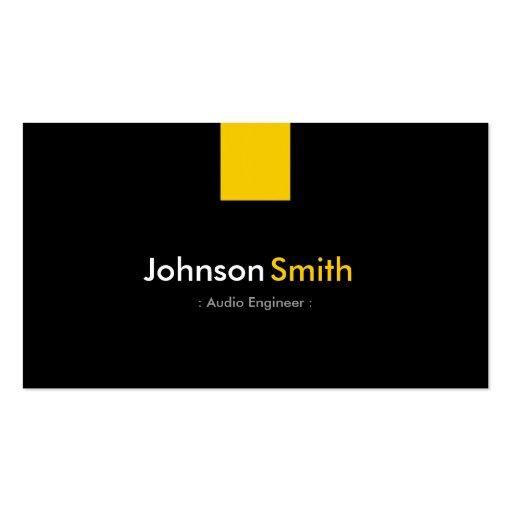 Audio Engineer - Modern Amber Yellow Business Cards