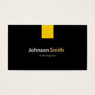 Audio Engineer - Modern Amber Yellow Business Card