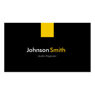 Audio Engineer - Modern Amber Yellow Pack Of Standard Business Cards