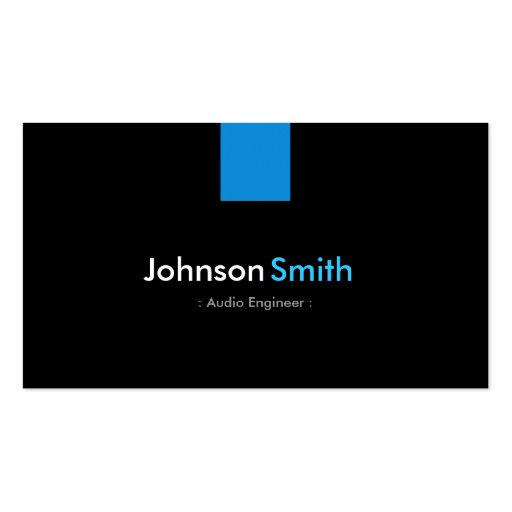 Audio Engineer Modern Aqua Blue Business Card Template