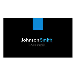 Audio Engineer Modern Aqua Blue Pack Of Standard Business Cards