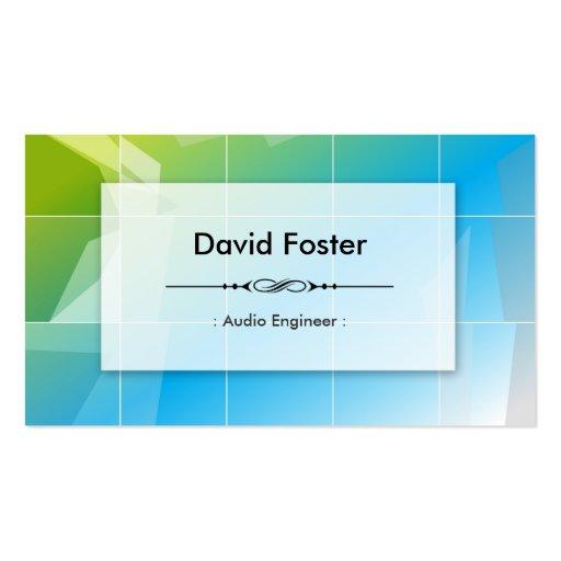 Audio Engineer - Modern Elegant Simple Business Card Templates