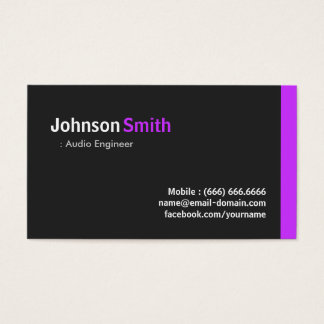 Audio Engineer - Modern Minimal Purple Business Card