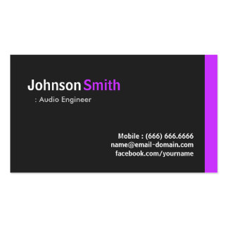 Audio Engineer - Modern Minimal Purple Pack Of Standard Business Cards