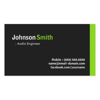 Audio Engineer - Modern Minimalist Green Pack Of Standard Business Cards