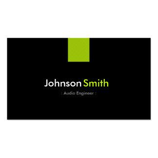 Audio Engineer Modern Mint Green Business Card