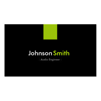 Audio Engineer Modern Mint Green Pack Of Standard Business Cards