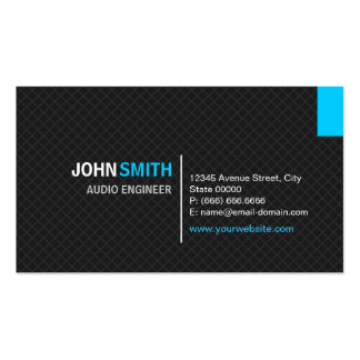 Audio Engineer - Modern Twill Grid Pack Of Standard Business Cards