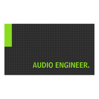 Audio Engineer- Multiple Purpose Green Pack Of Standard Business Cards