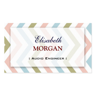 Audio Engineer - Natural Graceful Chevron Pack Of Standard Business Cards
