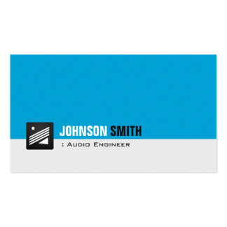 Audio Engineer - Personal Aqua Blue Pack Of Standard Business Cards