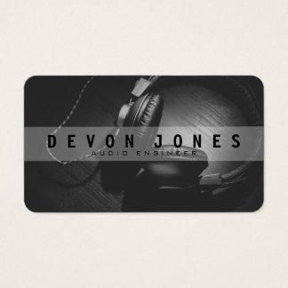 Audio Engineer Photo Business Card