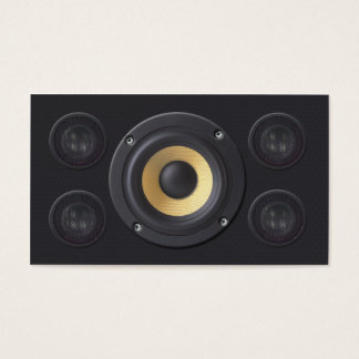 Audio Engineer Post Production Loud Speakers Business Card