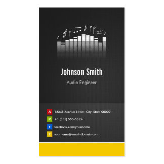 Audio Engineer - Premium Creative Innovative Double-Sided Standard Business Cards (Pack Of 100)