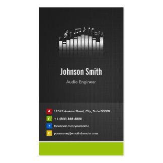 Audio Engineer - Premium Creative Innovative Business Card Templates