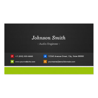 Audio Engineer - Professional and Premium Pack Of Standard Business Cards