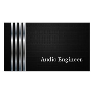 Audio Engineer Professional Black Silver Business Card Templates