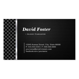Audio Engineer Professional Black White Pack Of Standard Business Cards