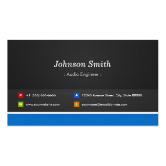Audio Engineer - Professional Customizable Business Cards