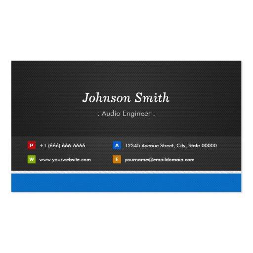 Audio Engineer - Professional Customizable Business Cards