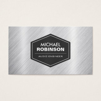 Audio Engineer - Silver Metallic Look Business Card