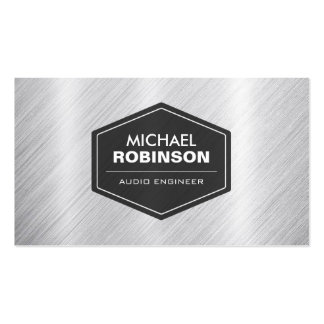 Audio Engineer - Silver Metallic Look Pack Of Standard Business Cards