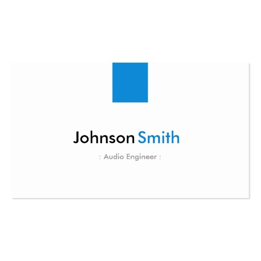 Audio Engineer - Simple Aqua Blue Business Cards