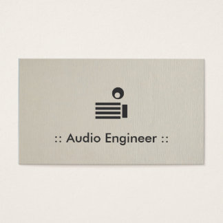 Audio Engineer Simple Elegant Professional Business Card