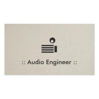 Audio Engineer Simple Elegant Professional Business Card Template