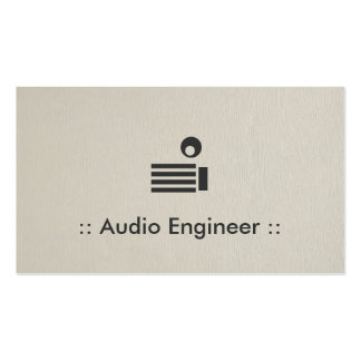 Audio Engineer Simple Elegant Professional Pack Of Standard Business Cards