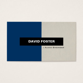 Audio Engineer - Simple Elegant Stylish Business Card