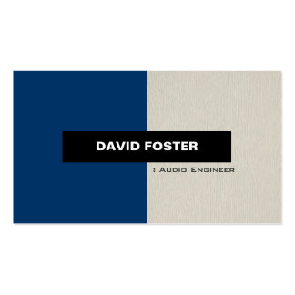 Audio Engineer - Simple Elegant Stylish Pack Of Standard Business Cards