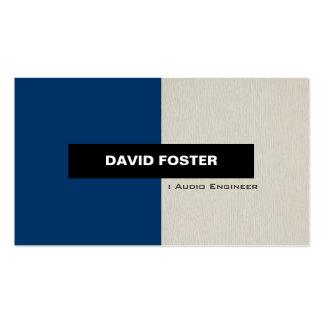 Audio Engineer - Simple Elegant Stylish Pack Of Standard Business Cards