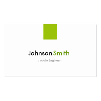 Audio Engineer - Simple Mint Green Business Card Template