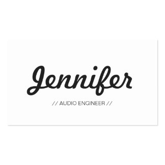 Audio Engineer - Stylish Simple Concise Pack Of Standard Business Cards