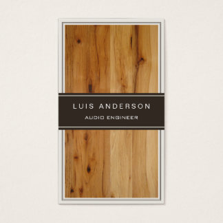 Audio Engineer - Stylish Wood Texture Business Card