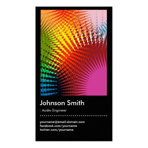 Audio Engineer - Trendy Rainbow Colors Business Cards