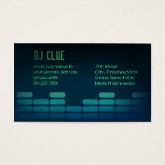 Audio EQ / Mixer / DJ Business Card