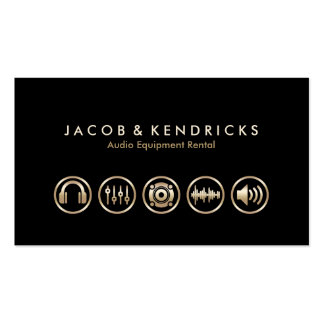Audio Equipment Rental Gold Icons BusinessCard Business Cards