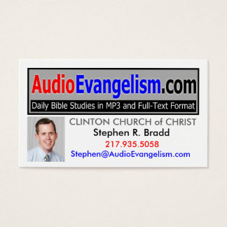 Audio Evangelism Business Cards