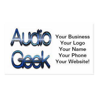 Audio Geek Blue Business Card Template