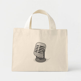 Audio Input Microphone Tote Bags