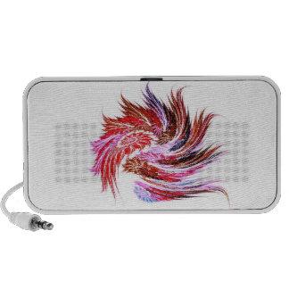 """Audio loudspeaker """"feathers"""" knows red fraktal iPhone speaker"""