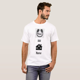 Audio Lover Phones = Home Tee Shirt