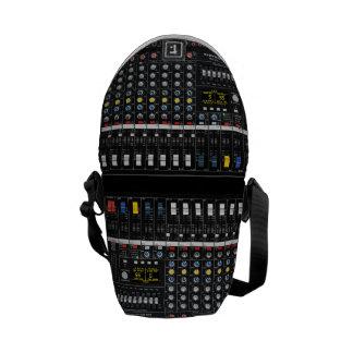 Audio Mixer pattern Messenger Bag