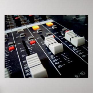 audio mixer poster